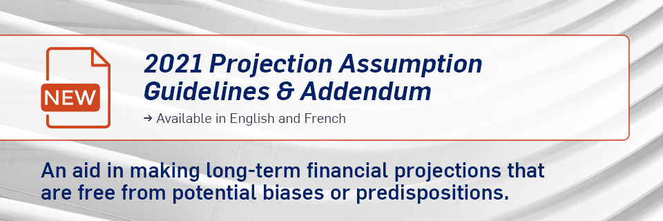 2021 Projection Assumption Guidelines